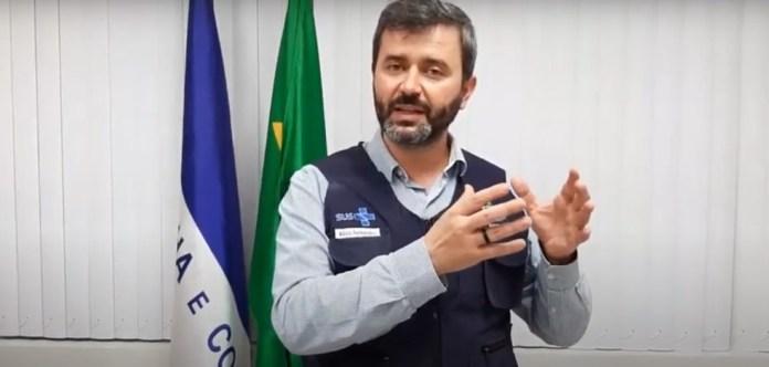 Secretário da Saúde do ES, Nésio Fernandes, em coletiva de imprensa na tarde desta segunda — Foto: Reprodução/YouTube