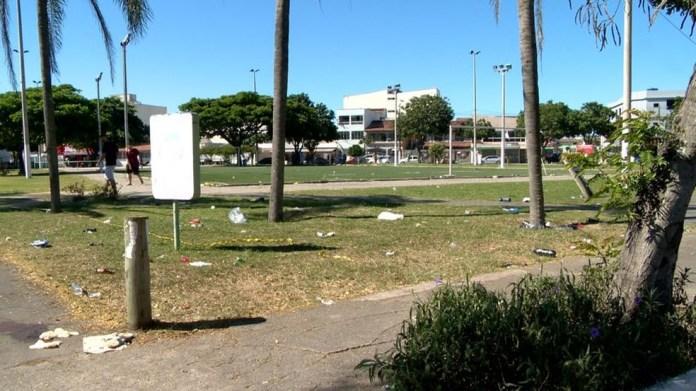Crime aconteceu na praça do bairro Araçás, em Vila Velha — Foto: ARQUIVO - Fernando Estevão/ TV Gazeta