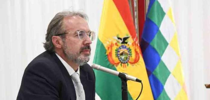 Jorge Richter, porta-voz da presidência da Bolívia