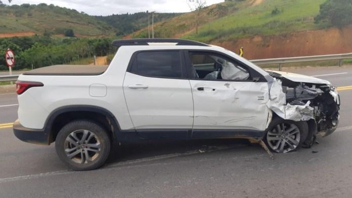 Acidente deixou dois mortos na BR-259, em Colatina — Foto: Divulgação/PRF