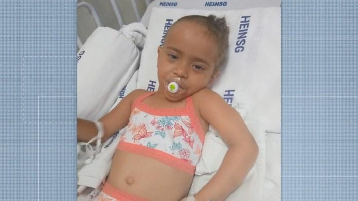 Anna Luíza ficou internada por cerca de um mês após ser atingida por concreto em Guarapari