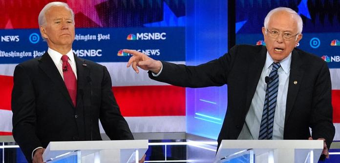 Joe Biden e Bernie Sanders