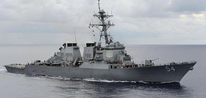 Navio de guerra dos EUA passa pelo Estreito de Taiwan (China)