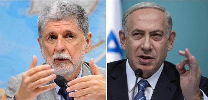 Celso Amorim e Benjamin Netanyahu