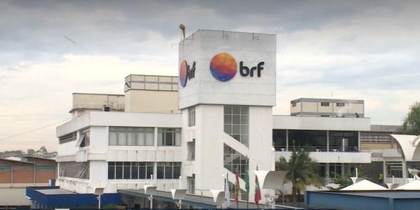 Frigorífico da BRF em Concórdia, SC — Foto: Reprodução/NSC TV