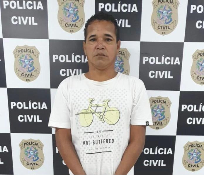 Jocimar Delfino da Victoria, 38 anos, preso por matar um idoso a pauladas na Serra, ES — Foto: Divulgação/Polícia Civil