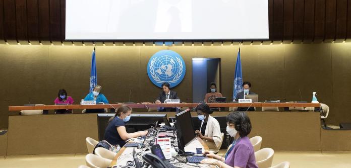 47ª Sessão do Conselho de Direitos Humanos, Palais des Nations. 22 de junho de 2021.