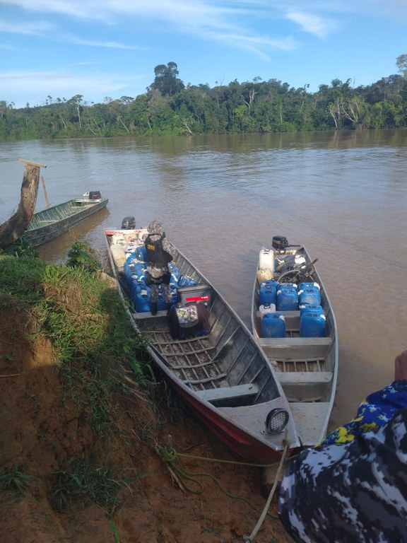 Apreendidos mais de 3 mil litros de combustível destinados à atividade de garimpo ilegal
