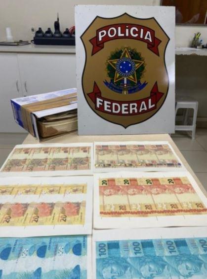 PF prende homem em flagrante recebendo notas falsas pelos Correios no ES — Foto: Divulgação/Polícia Federal