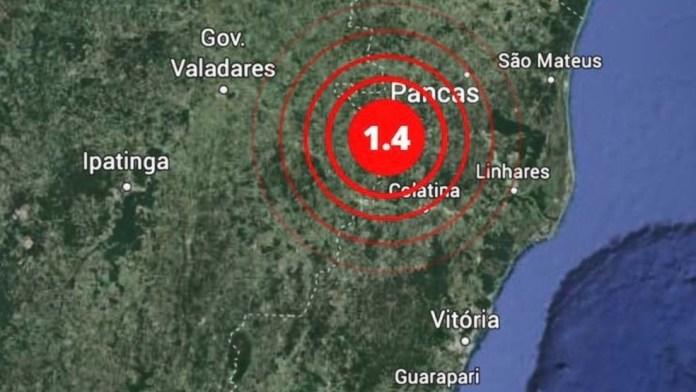 Tremor de terra de magnitude 1.4 foi registrado em Pancas, no Noroeste do ES