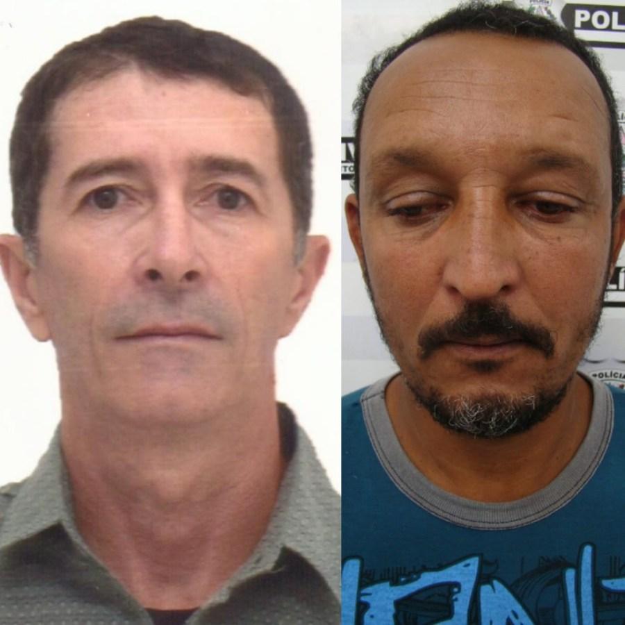 Elci Rodrigues Stuckim (esquerda) é suspeito de contratar Ney Eduardo Bazilio (direita) para matar a ex-mulher — Foto: Divulgação/PCES