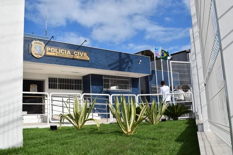 Delegacia Regional de Cariacica, no ES — Foto: Reprodução/ TV Gazeta