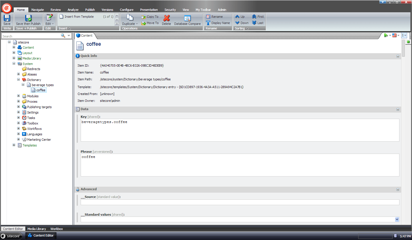 Prevent Sitecore Dictionary Entry Keys From Appearing When Their Phrase Field Is Empty