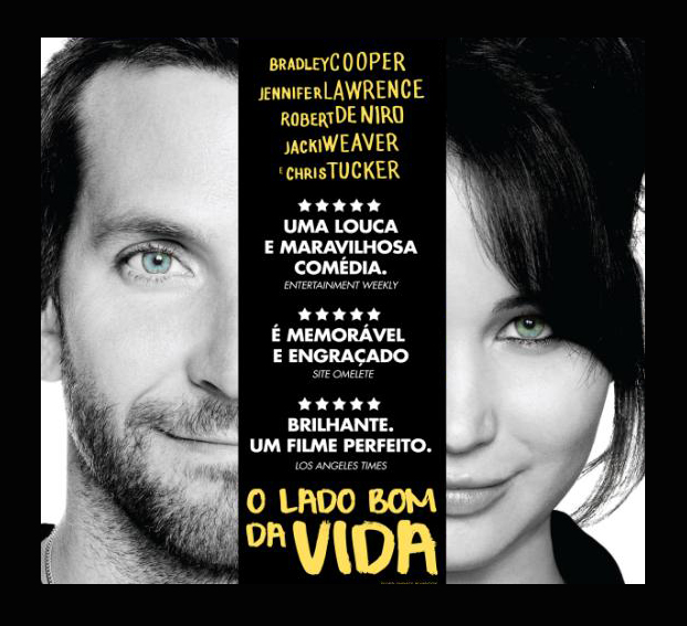 """The tip of the film: """"on The bright side of Life"""", a romantic comedy with Bradley Cooper and Jennifer Lawrence"""