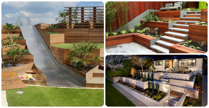 13 Terraced Planter Ideas For Adding Visual Appeal To Your ... on Terraced Front Yard Ideas id=11214