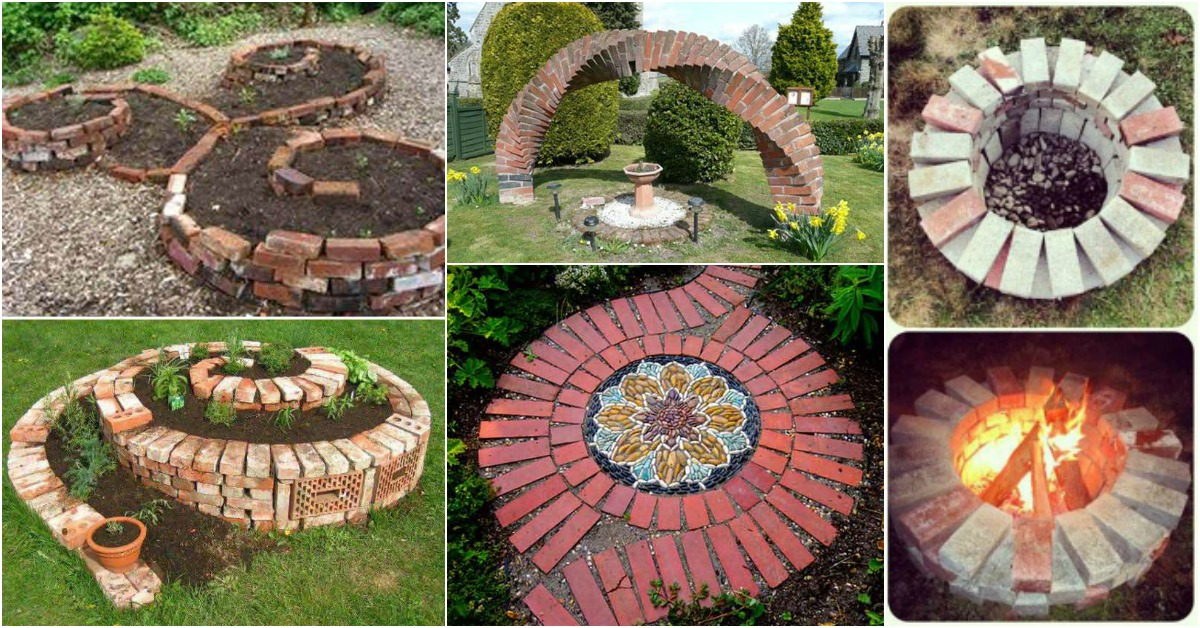 Cool DIY Ideas For Creating Garden or Backyard Projects ... on Brick Ideas For Backyard id=62177