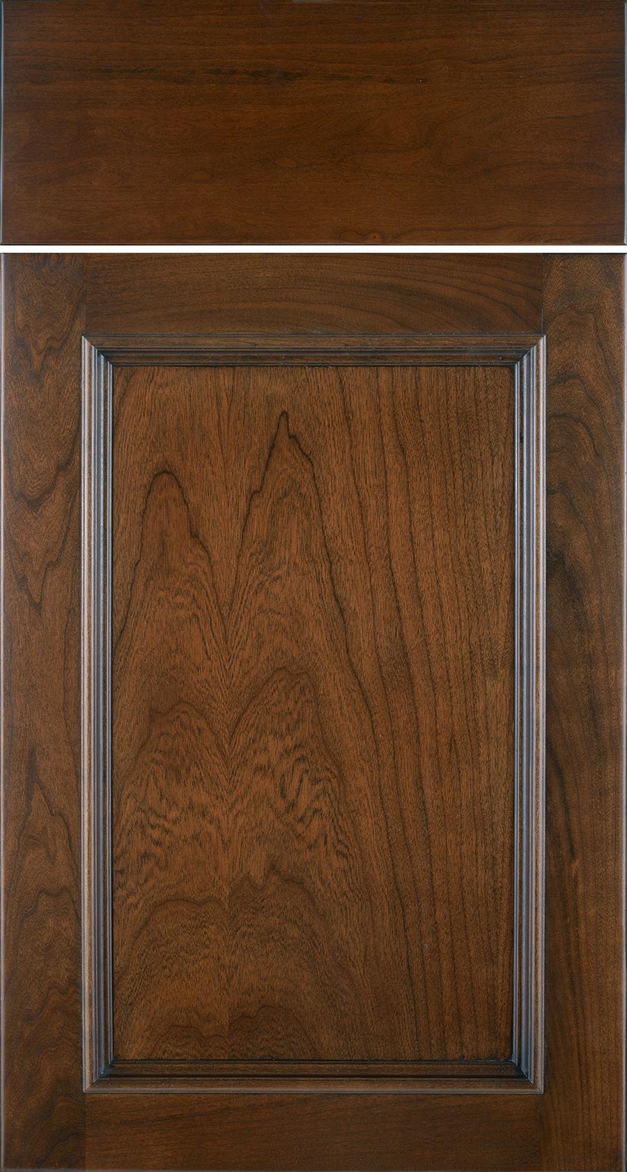 Christie, Cherry, Autumn, Brown Glaze, Slab Drawer Front