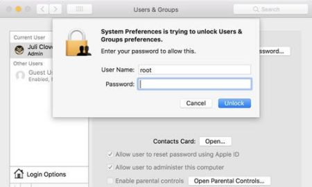 macOS High Sierra Bug Allows Full Admin Access Without Password