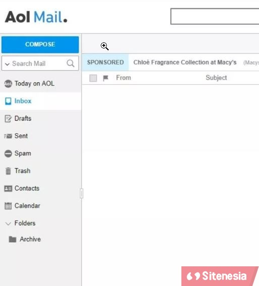 Gambar AOL Mail Cara Mencari Search Email AIM atau AOL Mail