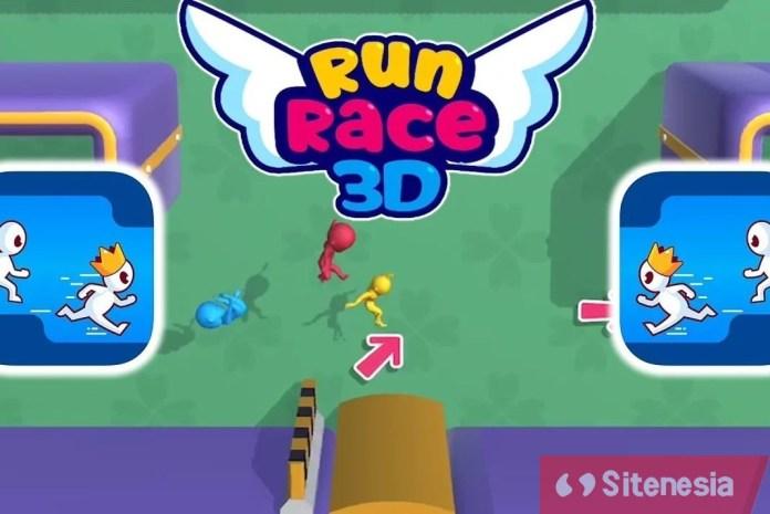 Gambar Cover Game Download Run Race 3D MOD APK Versi Terbaru Unlimited Money