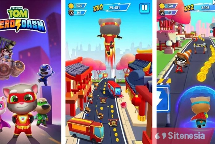Gambar Screenshoot Game Download Tom Hero Dash Baru MOD APK Versi Terbaru