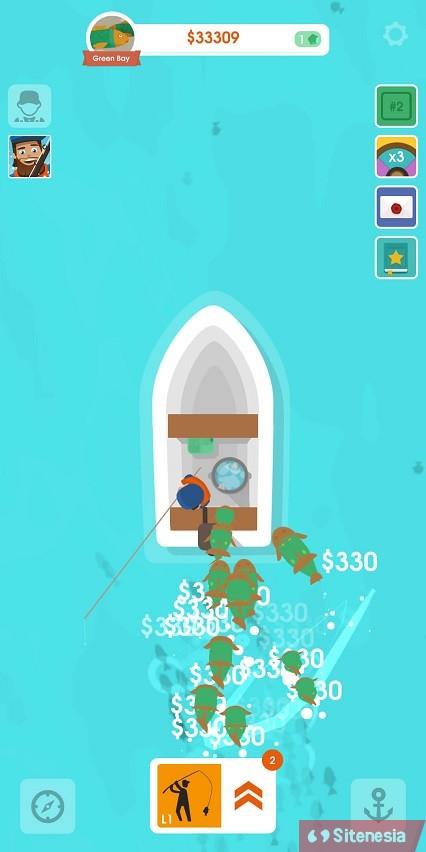 Gambar Gameplay Download Hooked Inc Fisher Tycoon MOD APK Versi Terbaru Unlimited Money Uang Tak Terbatas Gratis Untuk Android