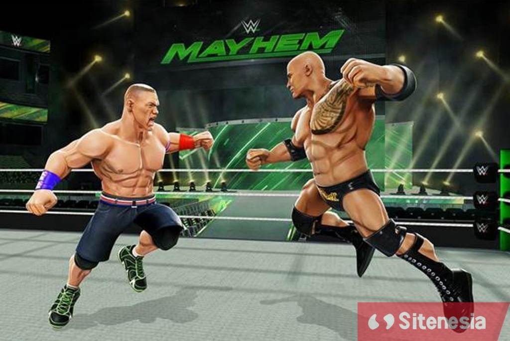 Gambar Gameplay Download WWE Mayhem MOD APK Versi Terbaru Unlimited Money Gold Dan Cash Gratis Untuk Android