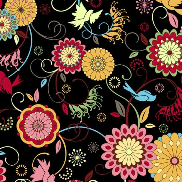Floragraphix Musings Jason Yenter Colorful Bird and Flower ...