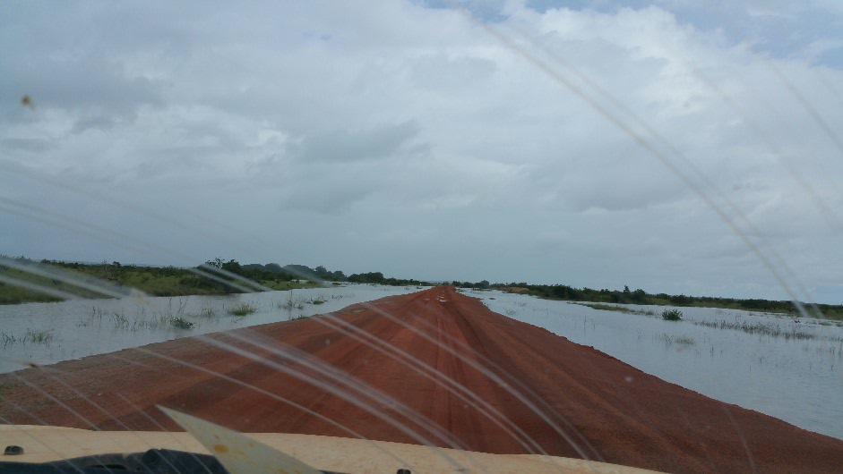 Road across water
