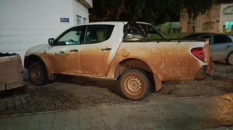 Truck and Guyana mud