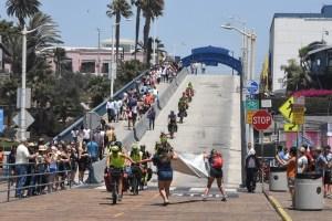 The finish at Santa Monica Pier