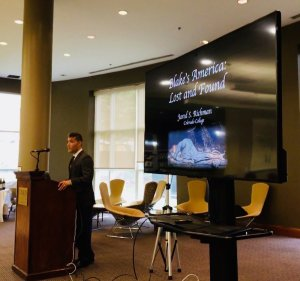 Prof Richman presenting