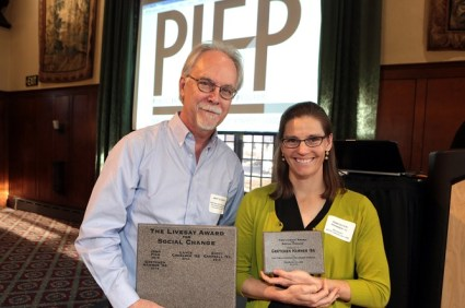 Jeff with Gretchen Hammer, the most recent recipient of the Livesay Award