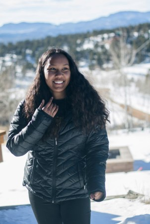 Bridge Scholar Tehya Watson '21 and others who are on the Costa Rica trip leader track, went to the CC Cabin for their assistant leader training in February. Photo by Chidera Ikpeamarom '22