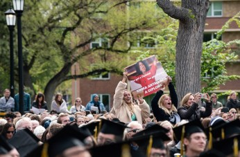Colorado College's Class of 2019 participate in their graduation ceremony in Colorado Springs on Sunday, May 19, 2019. Photo by Kelsey Brunner
