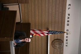 Andra Metcalfe, sophomore, takes the stand as a witness during a mock trial practice on Tuesday, February 18, 2020 at the El Paso County Combined Courts. Colorado College hosts the regional mock trial tournament this weekend. (Photo by Katie Klann)