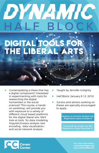Digital Tools for the Liberal Arts Half Block