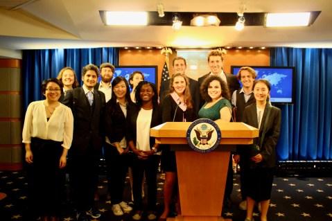 Tiger Trek: D.C. participants at the U.S. Department of State headquarters.