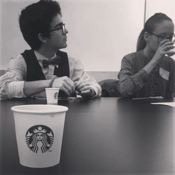 The group at a listening session at Starbucks HQ