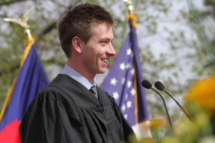 Student speaker Sam Brody '13