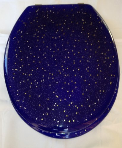 Glitter toilet seats. Gold stars and gold glitter toilet ...
