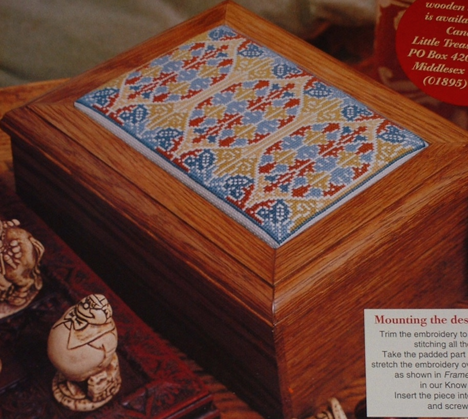Gothic Box Lid Book Cover Cross Stitch Charts Patterns For