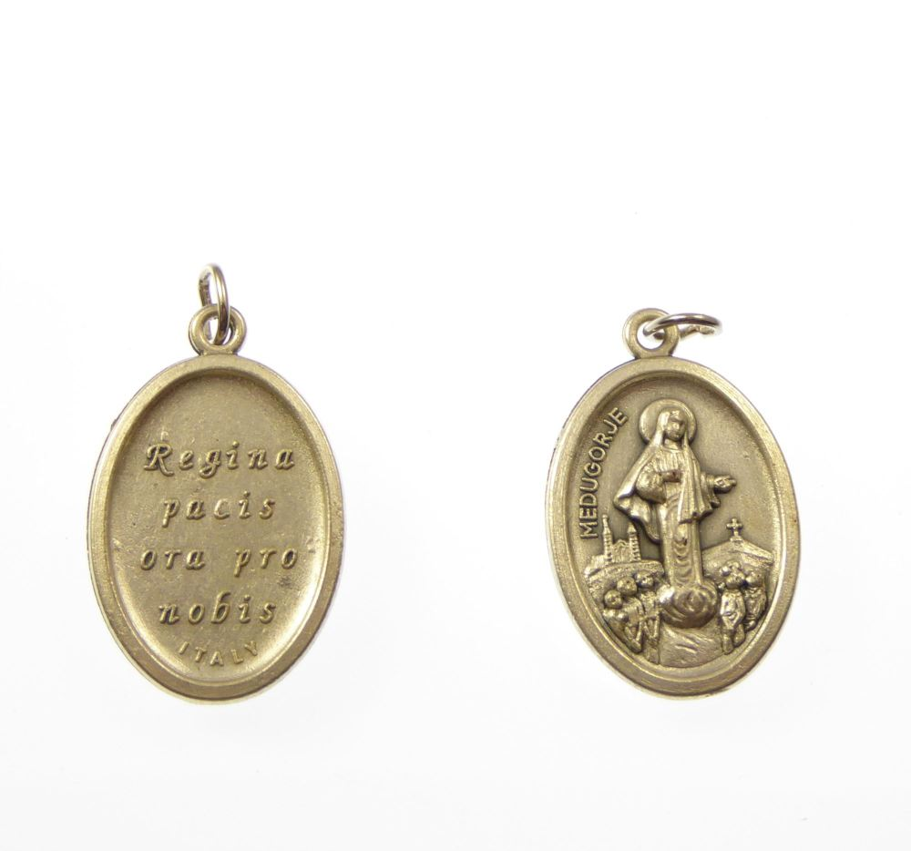 Rosary Medal Our Lady Of Medjugorje Metal