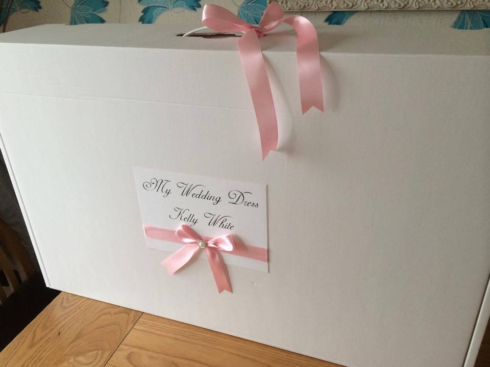 Personalised Extra Large Wedding Dress Storage Box With