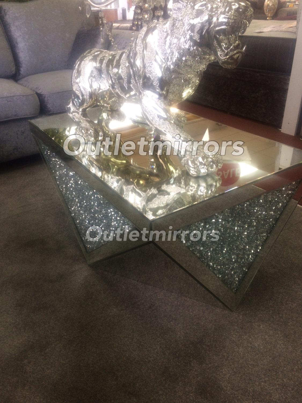New Diamond Crush Sparkle Crystal Mirrored Rectangular