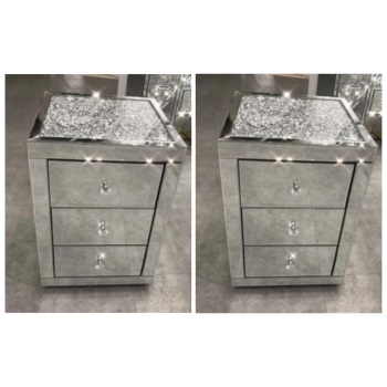 mirrored bedroom furniture outlet