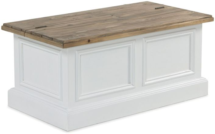 monpellier coffee table storage blanket box reclaimed