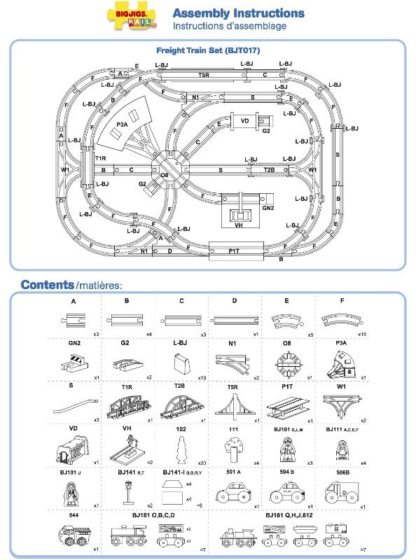 Imaginarium City Central Train Table Layout