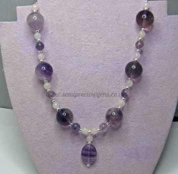 Flourite & Rose Quartz Necklace