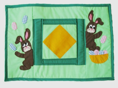 Quilted Placemats (Pack of 2) - Easter Bunny